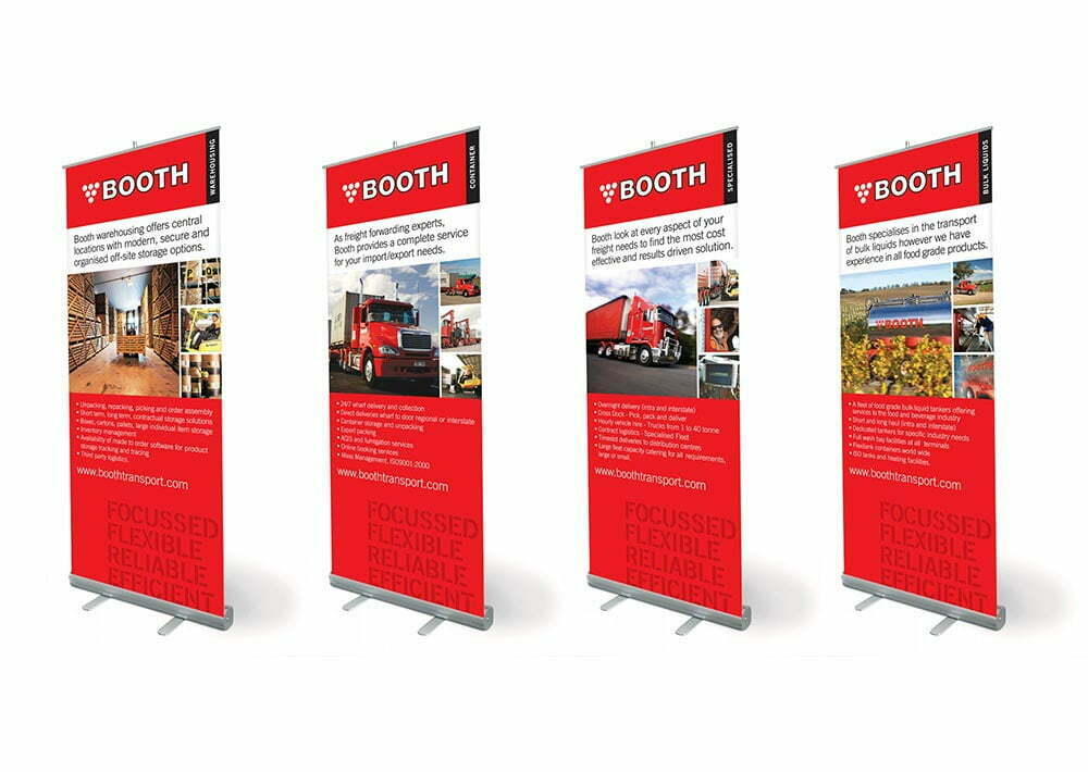 Booth Transport Banners