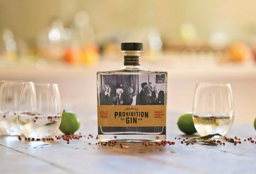 Prohibition Gin 700ml Bottle Packaging