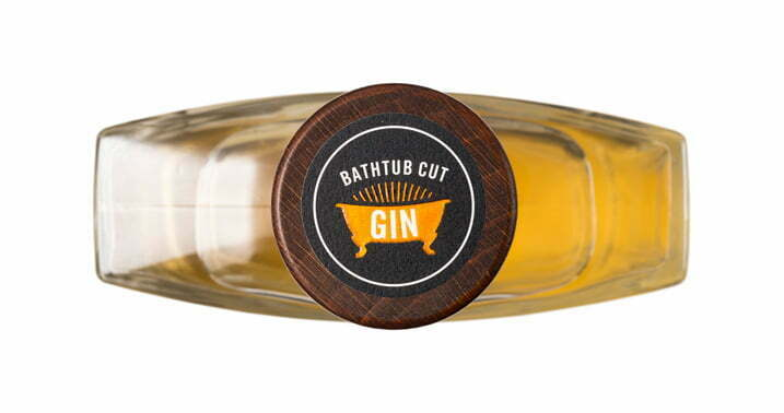 Prohibition Bathtub-Cut Gin 500ml Bottle - Top View