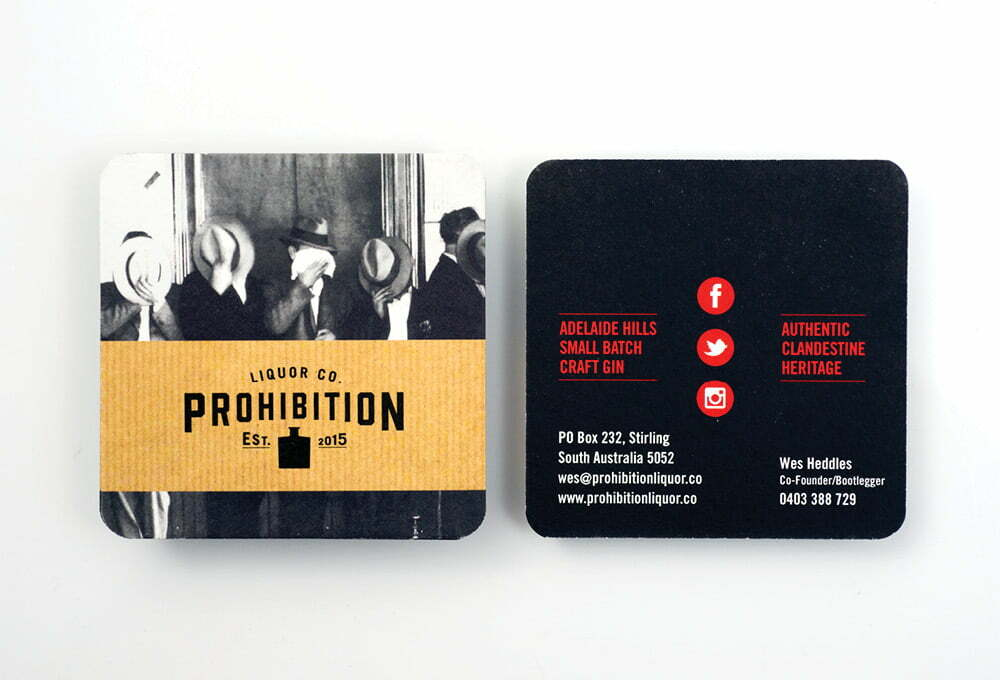 Prohibition Liquor Coasters