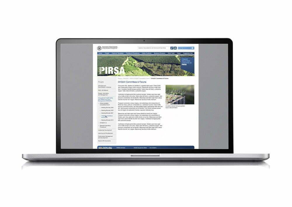 PIRSA Web Branding