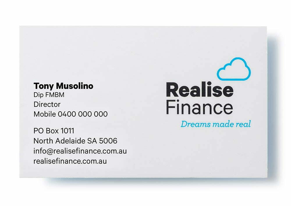 Realise Finance Business Cards