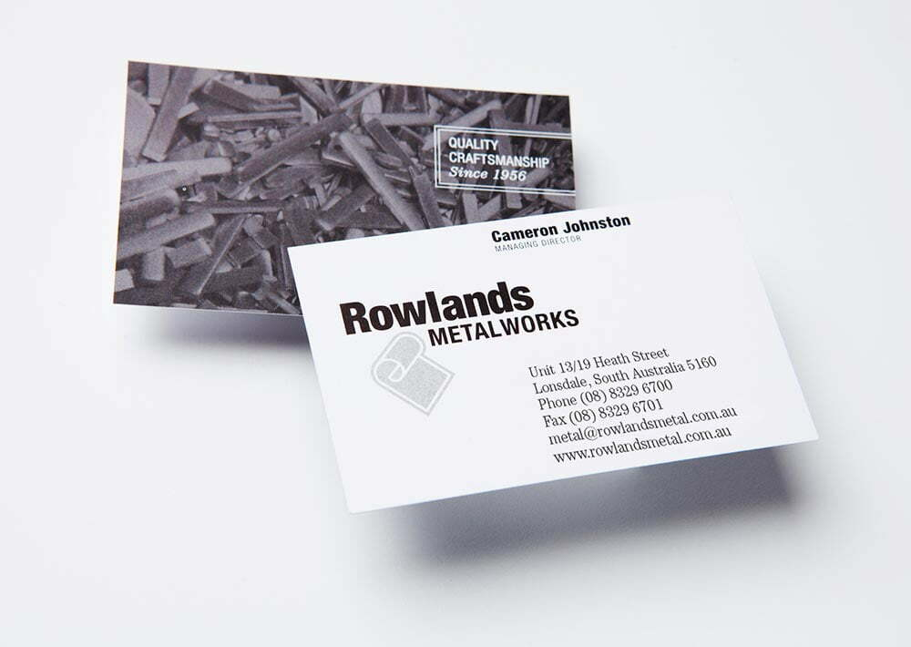 Rowlands Metalworks Businesscards