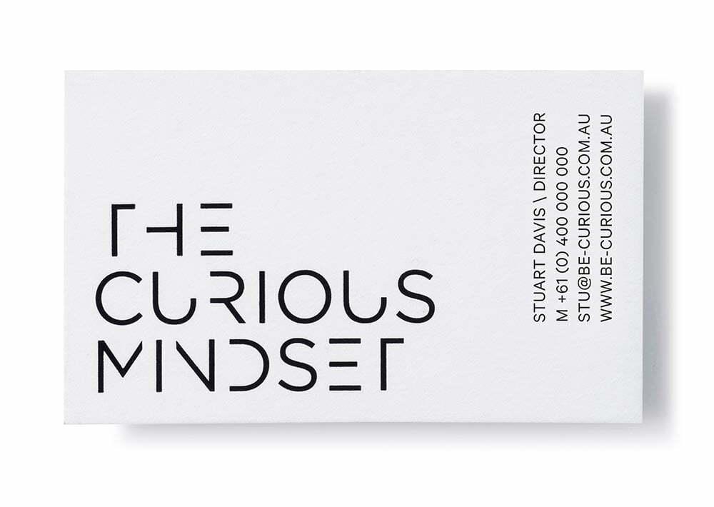 The Curious Mindset Business Cards
