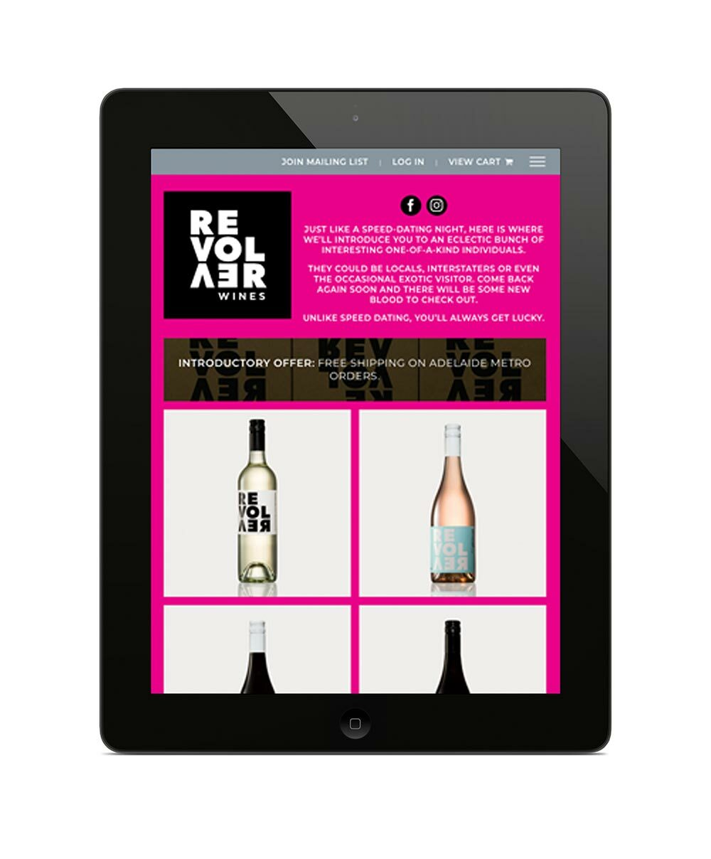 Revolver Wines Website - Shop